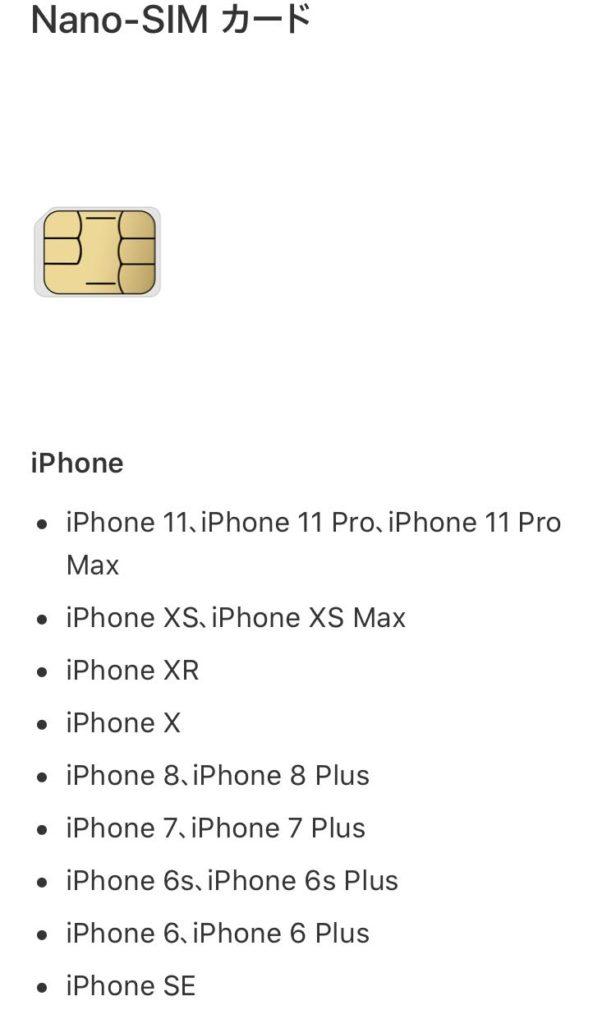 iPhone や iPad で使われている SIM カードのサイズを調べる